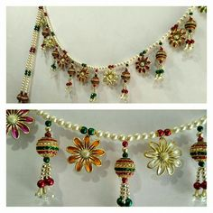 Diwali Craft, Diwali Diy, Diwali Decorations At Home, Flower Decorations, Hobbies And Crafts, Diy And Crafts, Ganapati Decoration, Marriage Gifts, Tatting Jewelry
