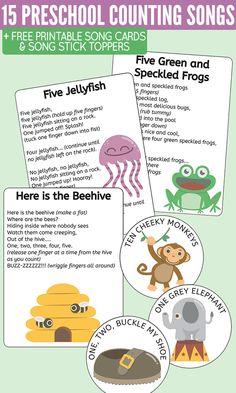 15 Preschool Counting Songs, Fingerplays & Rhymes