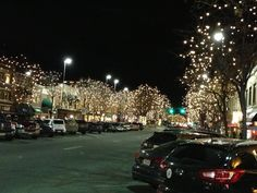 Downtown holiday lights - Fort Collins