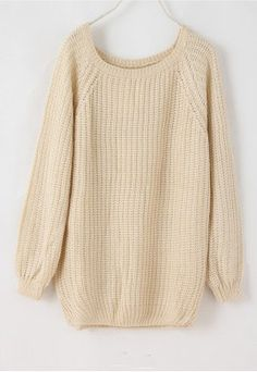 Batwing Puff Sleeve Ginger Jumpers Beige Sweater with leather leggings and a bun, yes please!