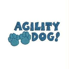 Dog Agility Tee Shirt  Agility Dog with Paw Prints by divinedezigns1, $16.95