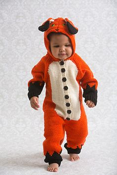 Ravelry: Frankie the Fox Onesie pattern by Amy Gunderson