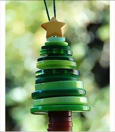 Button tree #christmas #craft