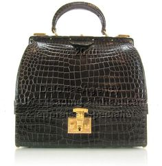 HERMES, a touch of vintage croc luxury  #DelortaeAgency #style #fashion #authentic #luxury