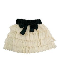Take a look at this Cream Nala Wool-Blend Skirt - Toddler & Girls by Mini Treasure Kids on #zulily today!