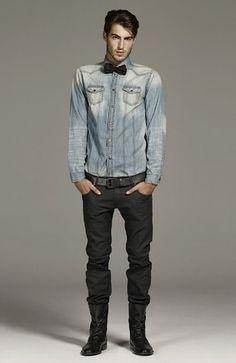 Zara men - tendencia camisa jean
