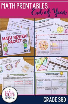 End of Year Math review with a twist! Engage your third graders with these fun math activities at the end of the year. Review 3rd grade math standards and have fun! End of Year Math | 3rd Grade Math Review | End of Year Math Activites