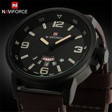 NAVIFORCE mens relógios top marca de luxo De Quartzo-Relógio Do Esporte À Prova…