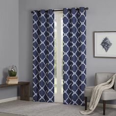Features:  -Set includes 2 curtain panels.  -Extendable hem.  Product Type: -Panel pair.  Pattern: -Geometric.  Material: -Synthetic.  Number of Items Included: -2.  Cleaning Method: -Tumble dry/Machi