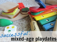 {5 Ideas for All-Ages Playdates} How to have successful mixed-age playdates. What are your best tips? Toddler Preschool, Toddler Activities, Fun Activities, Preschool Scavenger Hunt, Learning Through Play, Kids Learning, Experiential Learning, All Kids, Baby Play