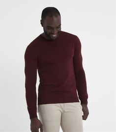Mens 100% Merino Crew Neck Jumper