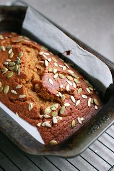 Easy, One-Bowl Pumpkin-Ginger Bread, made with wholemeal flour | Wandering Spice