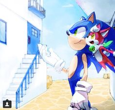 Sonic and Chip in Apotos!