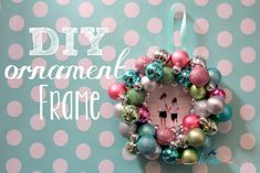 Hey everyone, here is the post I originally did for Serenity Now. I am so in love with this ornament/frame that I will most likely be heading back to Target to buy some more ornaments before they are gone!Supplies:Mini Ornaments (got mine at Target - $3 a box & the little bitty ones at Hobby...