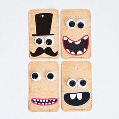 4 Funny Gift Tags with Goggly Eyes.