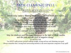 Path Clearing spell Waning Moon