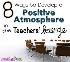 Do you enjoy going to the teachers' lounge or do you try to avoid it at all costs? Check out the results of this survey and  tips for making your teachers' lounge a positive place to be!