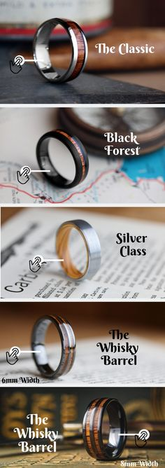 The Wooden WEDDING BAND Collection - Men's wooden wedding rings built out of tungsten - Wedding Goals, Wedding Men, Wedding Engagement, Wedding Planning, Dream Wedding, Engagement Rings, Wedding Ideas, Male Wedding Bands, Mens Wooden Wedding Bands