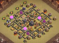 OMG These anti dragon base designs are really cool because of which dragons stopped flying after seeing this town hall 8 base layouts and killed themselves. Clash Of Clans Levels, Clash Of Clans Game, Dragon Base, Nintendo Ds Pokemon, Video Game Memes, Pokemon Fusion, Super Smash Bros, Pokemon Cards, Digimon