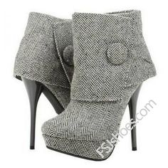 Vita Gray Ankle Buckle Ankle Boots (115 AUD) ❤ liked on Polyvore featuring shoes, boots, ankle booties, bootie boots, gray boots, buckle bootie, grey ankle booties and short boots