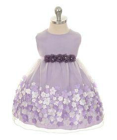 Lavender Taffeta Flower Dress - Infant