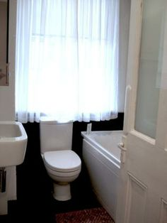 Bathroom One Bedroom Apartment, Rental Apartments, Curtains, London, Bathroom, Washroom, Blinds, Full Bath, Draping