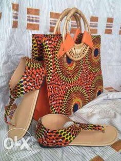 All designer African Bags and Slip Wears For Sale Kumasi Metropolitan - image 6 African Inspired Fashion, African Print Fashion, Africa Fashion, African Attire, African Wear, African Women, African Style, Ankara Bags, Dress Shoes