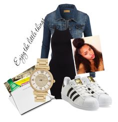 """School day "" by lajiat ❤ liked on Polyvore featuring LE3NO, adidas Originals, Michael Kors, women's clothing, women's fashion, women, female, woman, misses and juniors"