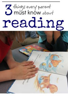 3 things parents must know about #reading, whether your child is struggling or reading fluently.