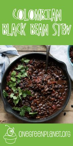 God, this looks so good. Colombian Black Bean Stew @TLPlantation