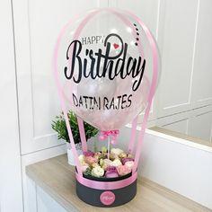 Birthday Balloon Decorations, Birthday Balloons, Cute Birthday Gift, Diy Birthday, Balloon Gift, Air Balloon, Flower Box Gift, Balloon Arrangements, Custom Balloons
