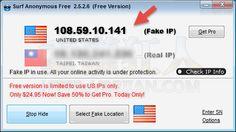 Surf Anonymous Free 隱藏 IP 上網,用分身發文不怕被查水錶