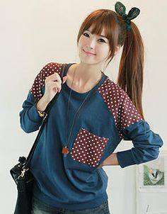 Buy 'CLICK – Polka Dot Trim Sweatshirt' with Free International Shipping at YesStyle.com. Browse and shop for thousands of Asian fashion items from South Korea and more!