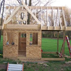 Little Girls Playhouse, Kids Playhouse Plans, Backyard Playhouse, Wooden Playhouse, Toddler Playhouse, Kids Backyard Playground, Backyard Plan, Backyard For Kids, Outdoor Activities For Kids