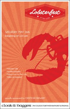 cloak & dagger lobsterfest poster
