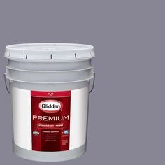 Glidden Premium 5 gal. #HDGV50D Soft Greyed Heather Flat Interior Paint with Primer