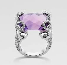 Purple Diamond Gucci Ring <3