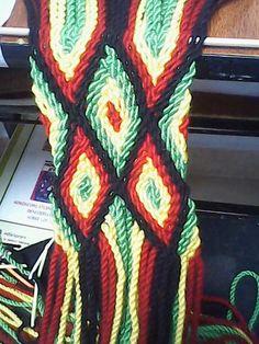 Gasa rombos pasos Tapestry Crochet, Macrame, Braids, Weaving, Blanket, Pattern, Diy, Crochet Bags, Ideas