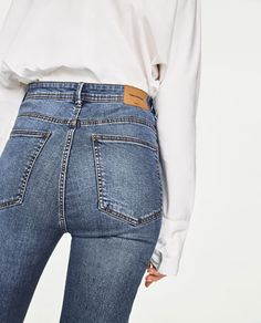 Image 6 of HIGH-RISE SKINNY FIT JEANS from Zara