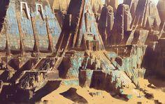 Desert Ruins, Paul Chadeisson on ArtStation at https://www.artstation.com/artwork/olGzz