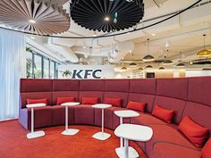 "bokor architecture + interiors on Instagram: ""Happy hump day! ⠀⠀⠀⠀⠀⠀⠀⠀⠀ A look back at an exciting project completed last year - The KFC Offices in Frenchs Forest. ⠀⠀⠀⠀⠀⠀⠀⠀⠀ The…"""