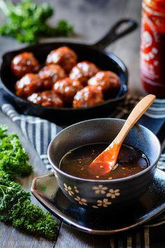 ... brown sugar glaze baked turkey meatballs with spicy brown sugar glaze