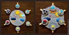 Купить Игры на прищепках - фетр, игрушки, игры для детей, игры на прищепках, развивающие игрушки, разноцветный