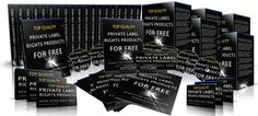Huge, Ever-Growing Package Of Top QUALITY Private Label Rights Products For Free