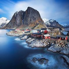 Lofoten is an archipelago and a traditional district in Norway. It`s known for spectacular nature attractions such as the northern lights and the midnight sun and excellent fishing as well. Who wouldn`t want to see northern lights in such a wonderful place!