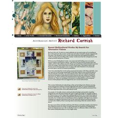 Richard's site tells his story along with showing his excellent work. Previous and Next buttons allow it to be read like a book. Artist Profile, Australian Artists, Buttons, Website, Gallery, Book, Roof Rack, Books, Livres