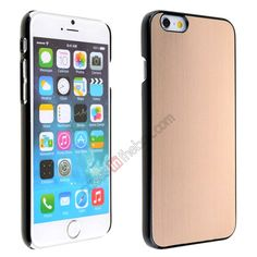 Luxury Brushed Metal Aluminum Hard Back Cover Case for iPhone 6 4.7inch - Champagne US$5.69