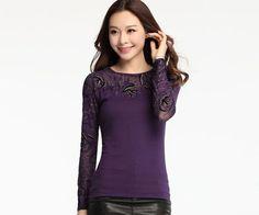 M-3XL Plus size clothing 2016 Spring blusas long sleeve shirt embroidery Casual Tops Fashion Women T shirt