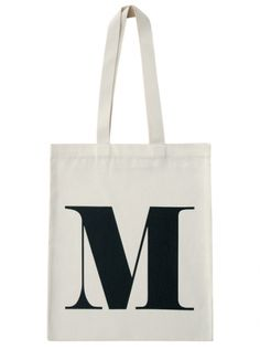 M - Natural | Bags | Shop | Alphabet Bags-- love this idea for the wedding party!