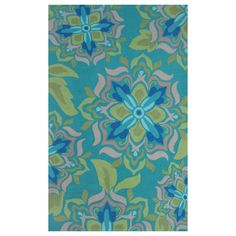 Andalucia Green Hook Rug @Layla Grayce------824$-----polyester----8x10---------